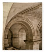 New York Library Fleece Blanket