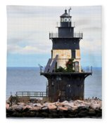 New York Lighthouse-3 Fleece Blanket