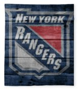 New York Rangers Barn Door Fleece Blanket
