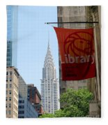 New York Scene Fleece Blanket