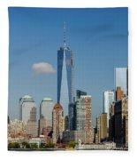 New York Skyline Fleece Blanket