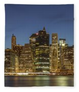 New York Skyline Panorama - 2 Fleece Blanket