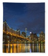 New York Skyline - Queensboro Bridge - 2 Fleece Blanket