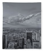 New York Skyline - View On Central Park - 2 Fleece Blanket