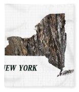 New York State Map Fleece Blanket