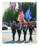 New York State Police Color Guard  5 Fleece Blanket