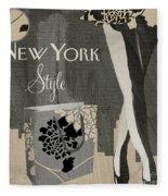 New York Style I Fleece Blanket