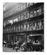 New York: Tenements, 1912 Fleece Blanket