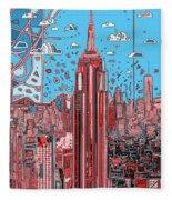 New York Urban Colors 2 Fleece Blanket