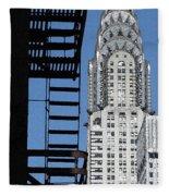 New York Watercolor 3 Fleece Blanket