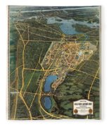 New York Worlds Fair 1939 Fleece Blanket