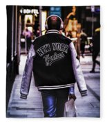 New York Yankees Baseball Jacket Fleece Blanket