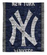 New York Yankees Brick Wall Fleece Blanket