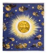 New York's New Solar System Vintage Poster 1898 Fleece Blanket