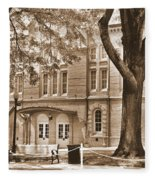 Newberry Opera House Newberry Sc Sepia Fleece Blanket