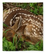 Newborn Fawn Fleece Blanket