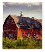 Newell Ave Barn Fleece Blanket