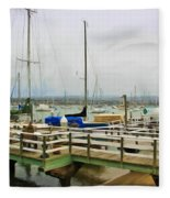 Newport Bay And Balboa Island Fleece Blanket