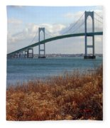 Newport Bridge Newport Rhode Island Fleece Blanket