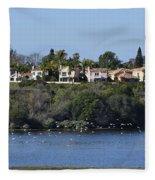 Newport Estuary Looking Across At Homes I Fleece Blanket