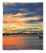 Newport Gold Fleece Blanket