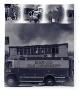 Newport Oregon Fire Department Drill - Practice Fire Drills Fleece Blanket