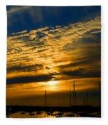 Newport Sunset Fleece Blanket