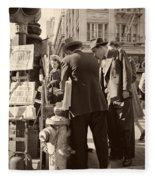 News Of The Attack On Pearl Harbor - San Francisco 8 Dec 1941 Fleece Blanket