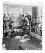Newsboys Swimming 1900s Fleece Blanket