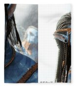 Neytiri And Jake - Gently Cross Your Eyes And Focus On The Middle Image Fleece Blanket