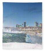 Niagara And Canada Fleece Blanket