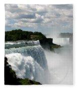 Niagara Falls American And Canadian Horseshoe Falls Fleece Blanket