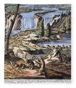 Niagara Falls: Beavers, 1715 Fleece Blanket
