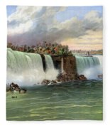 Niagara Falls, C1840 Fleece Blanket