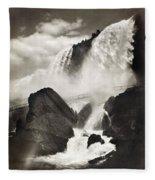 Niagara Falls, C1888 Fleece Blanket