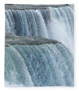 Niagara Falls Closeup Charcoal Effect Fleece Blanket