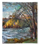 Niagara Falls Lake Fleece Blanket