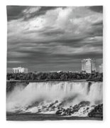 Niagara Falls - The American Side 3 Bw Fleece Blanket
