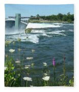 Niagara Falls Usa - Photo Fleece Blanket