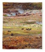 Nicaragua Mud Pots Fleece Blanket