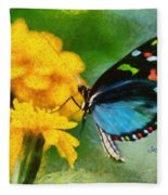 Nice Butterfly Fleece Blanket