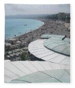 Nice By The Sea. Fleece Blanket