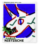 Nietzsche Poster Fleece Blanket