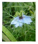 Nigella In Spring Rain Fleece Blanket
