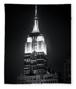 Night At The Empire State Building Fleece Blanket