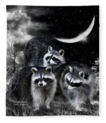 Night Bandits Fleece Blanket