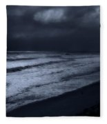 Night Beach - Jersey Shore Fleece Blanket