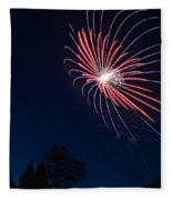 Night Bloom Fleece Blanket