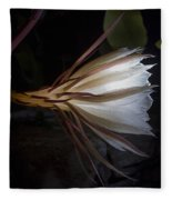 Night Blooming Cereus Fleece Blanket