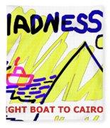 Night Boat To Cairo 1979 Fleece Blanket